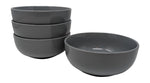 Gianna's Home Stoneware Soup Salad Cereal Bowls 6 1/2 in. Ceramic 28 oz, Set of 4 (Grey) - Gianna's Home