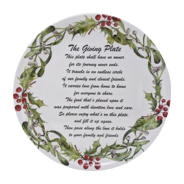 Gianna's Home Set of 3 Melamine Giving Plates (Christmas)