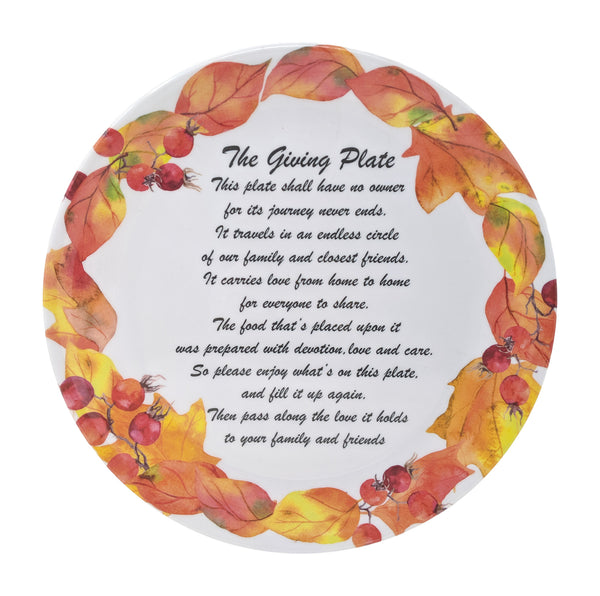 Gianna's Home Set of 3 Melamine Giving Plates (Fall)