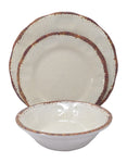 Gianna's Home 12 Piece Rustic Farmhouse Melamine Dinnerware Set (Ivory) - Gianna's Home