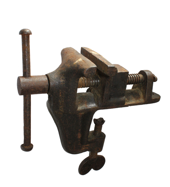 Image of a bench mount vise