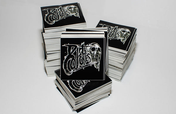 A bundle of black printed cards