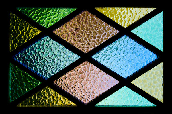 Stained glass art with a soldering iron