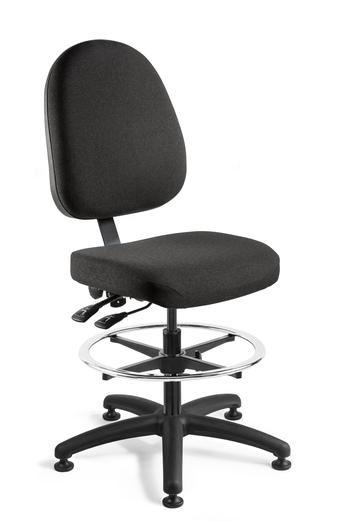 A black color upholstered chair from Bevco