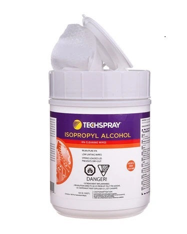 Isopropyl Alcohol Pre-Saturated Wipes from Techspray