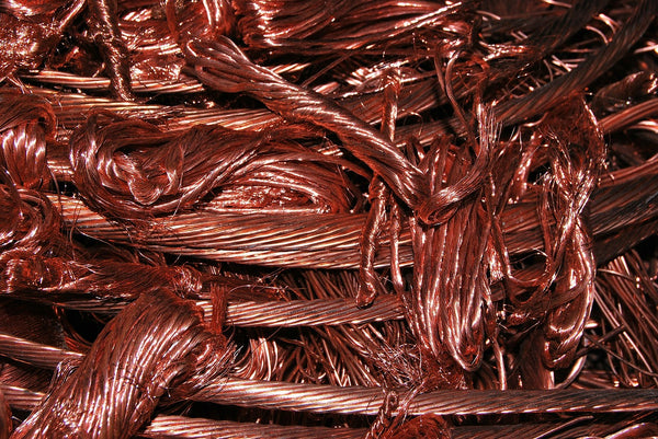 Image of neatly coiled copper wire