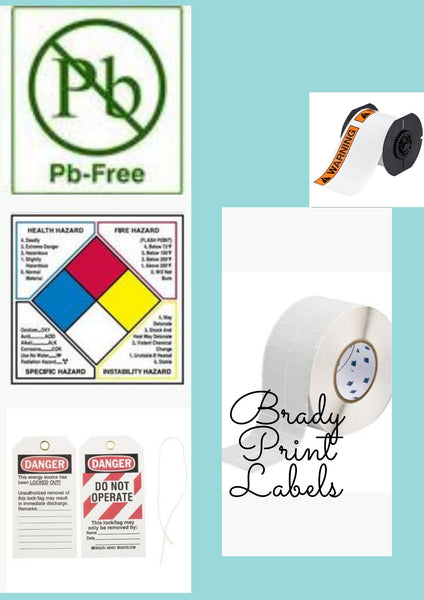 Images of Brady Print Labels