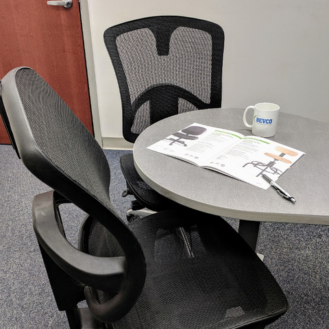 Bevco seating in workspace