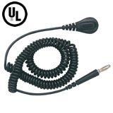 Desco 09682 Relaxed Retraction Coil Cord with Banana Plug, 20'