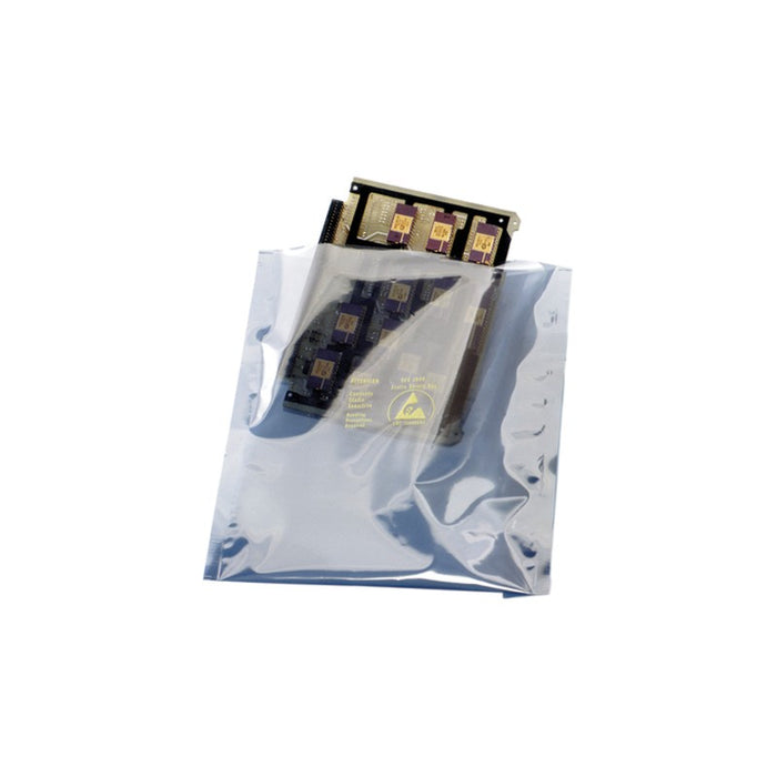 "SCS 100814 Open-Top Static Shielding Bags, 8"" x 14"" 