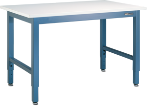 "IAC QS-1006001-D Workmaster ESD-Safe Bench 30"" x 48"", Sky Blue"