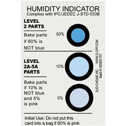 Desco 13869 Humidity Indicator Cards 5% 10% 60% RH, 125 per can