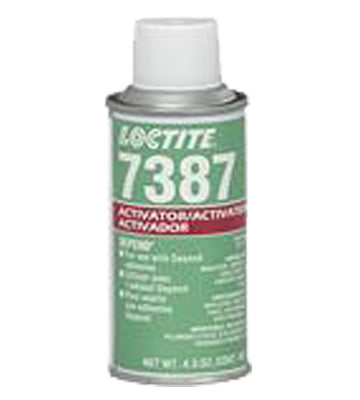 he Loctite® 209714 Depend® 7387™ Activator promotes the cure of most acrylic adhesives. It activates the surface of heat sink and other substrates prior to applying the adhesive. 4.5oz aerosol can  Formerly known as part number 21088.