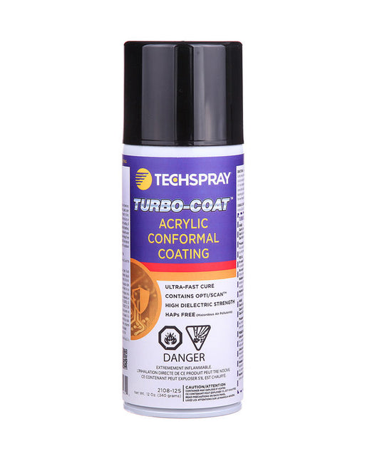TechSpray 2108-12S Turbo-Coat Acrylic Conformal Coating, 12 oz