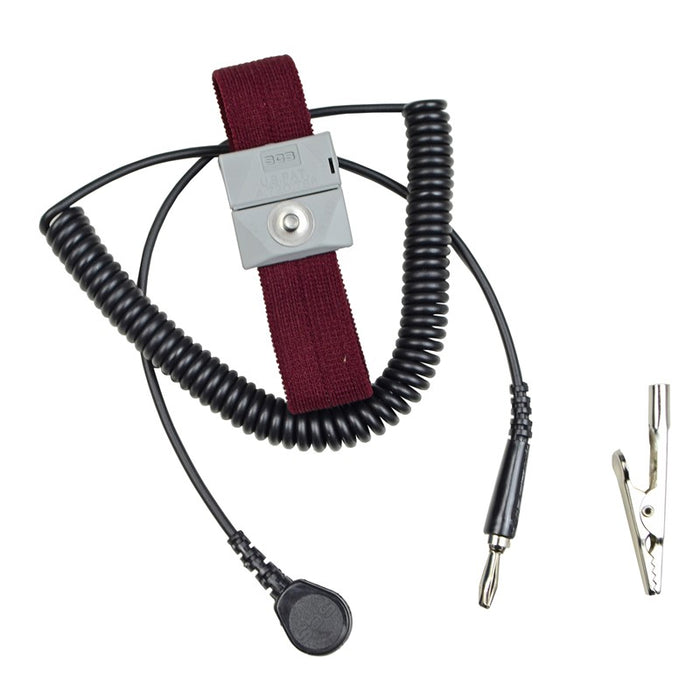 SCS 2214 Adjustable Fabric Wrist Strap & 5' Cord, Burgundy