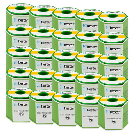Kester 24-9574-1402 | K100LD Lead Free Wire Solder, 48 Rosin, .031 dia., 66 core, Case of 25 rolls