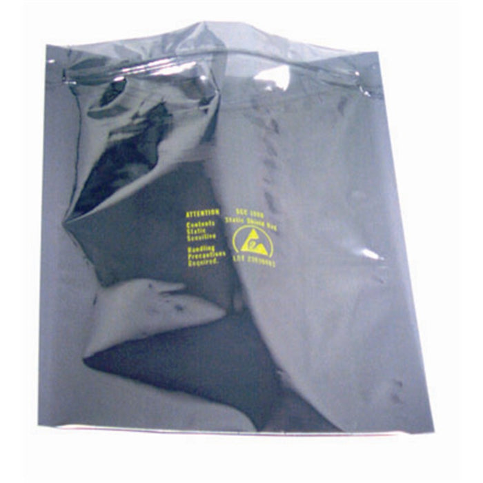 "SCS 3001010 Zip-Top Static Shielding Bags, 10"" x 10"" 