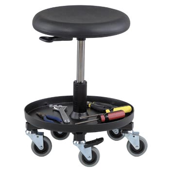 "Bevco 3357 Polyurethane Maintenance Repair Stool, 20""-27"" Seat Height"