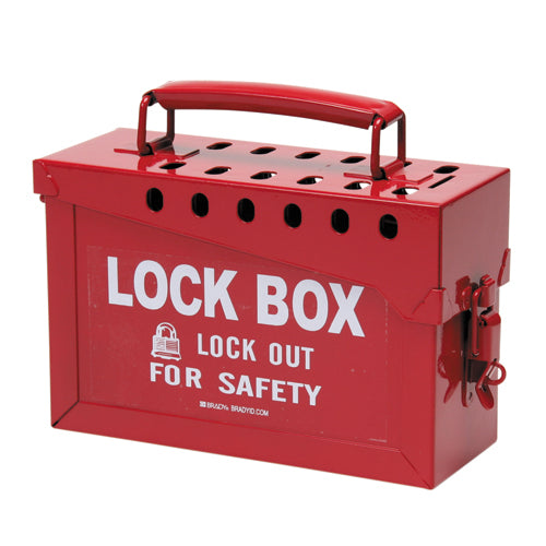 Brady 65699 Portable Safety Metal Red Lock Box