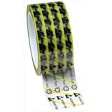 "Desco 79278 Clear ESD-Safe Tape with ESD Symbols & Yellow Stripes 2"" x 72yds"
