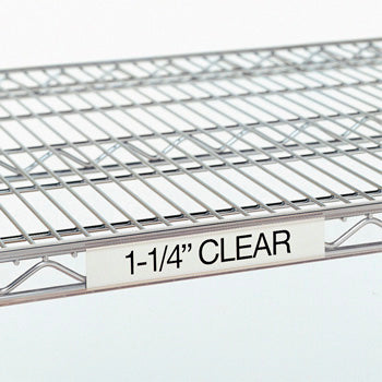 "Metro 9990CL30 Super Erecta® Clear Label Holder 25""  x 1-1/4"""