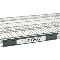 "Metro 9990P1 Super Erecta® Grey Label Holder 13"" x 1-1/4"""