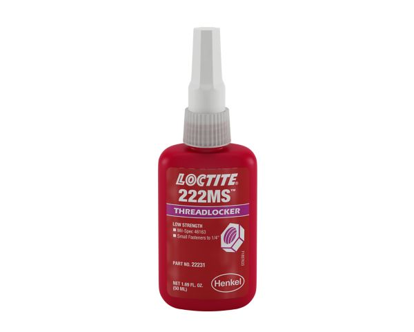 Loctite 135334 Low Strength 222MS Threadlocker, 50ml