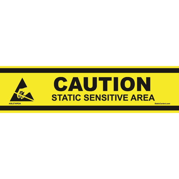 "SCS AISLETAPE54 ESD Caution Aisle Marking Tape, 3"" x 54' Roll"