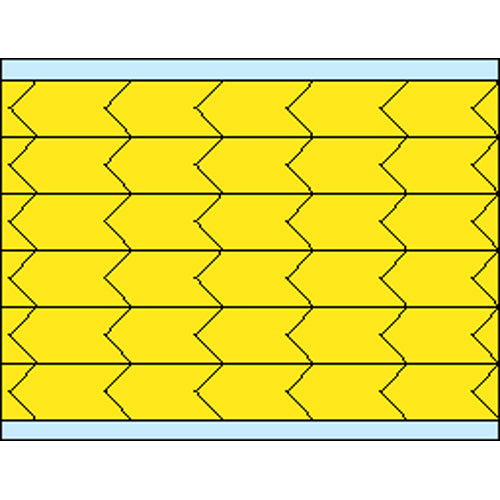 "Brady DIA-375-YL Die Cut Inspection Yellow Arrows, 0.375"" x 0.187"""