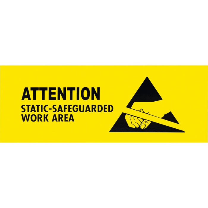 "SCS ESDSIGN4X10 ESD Safe Work Area Sign, 4"" x 10"""