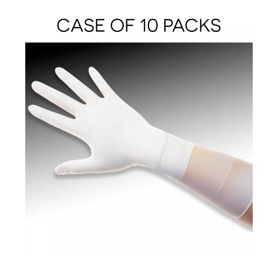 QRP Q095-L | ESD Safe, Class 100 (ISO 5) Qualatrile XC White Nitrile 9″ Gloves | 100 Pack | Case of 10 Packs