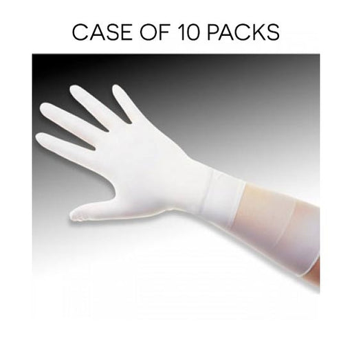 QRP Q095-XL | ESD Safe, Class 100 (ISO 5) Qualatrile XC White Nitrile 9″ Gloves | 100/pk | Extra Large