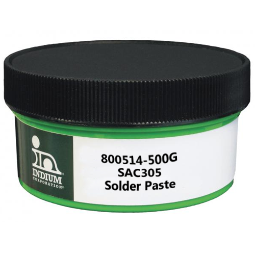 Indium 800514-500G PB-Free, No Clean SAC305 Solder Paste, 500g Jar