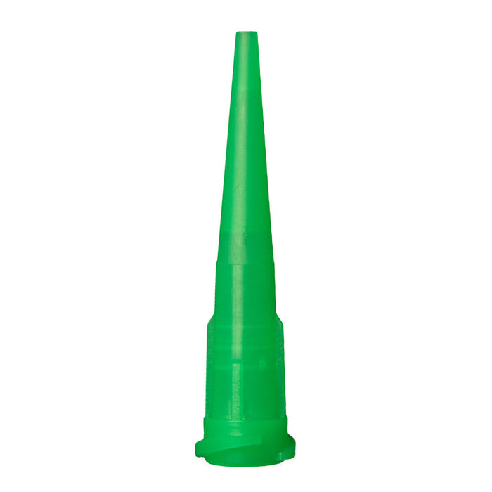 Jensen Global JG18-1.25TT Green Tapered Dispensing Tips - 18 gauge 1000/bag