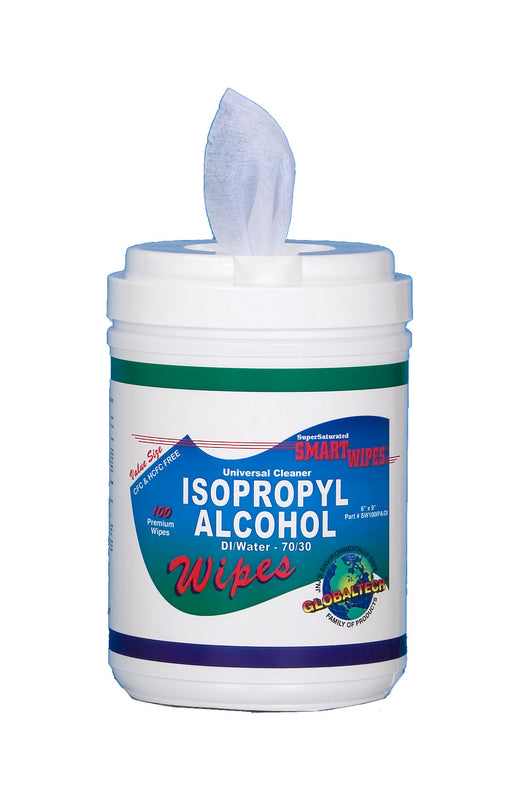 JNJ SW100IPA/DI Isopropyl Alcohol & DI Water Cleaning Wipes, 100/tub