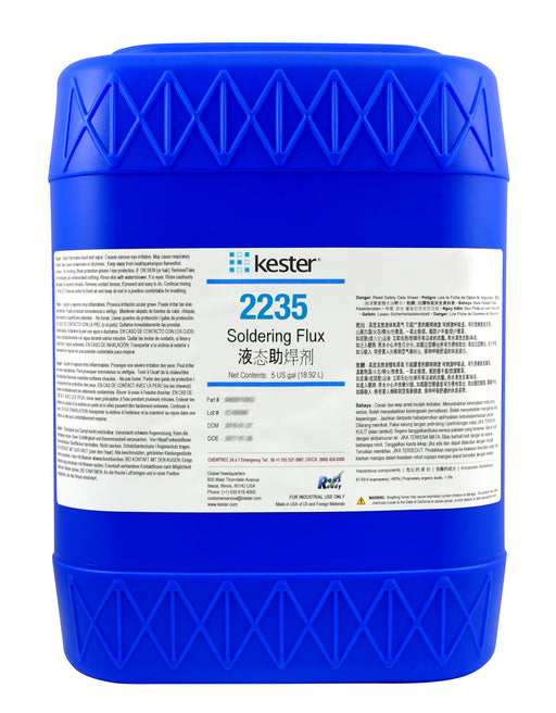 Kester 2235 Organic Water Soluble Liquid Flux, 5 Gallon