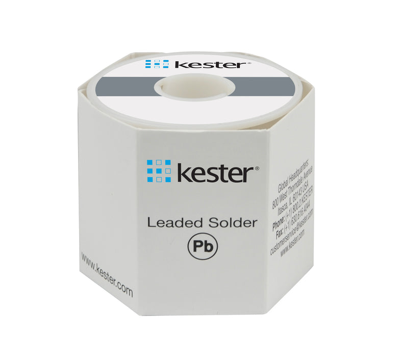 "Kester 24-6337-8817 | Sn63/Pb37 Wire Solder, 245 No-Clean, .062""dia., 50 Core, 1 lb. 