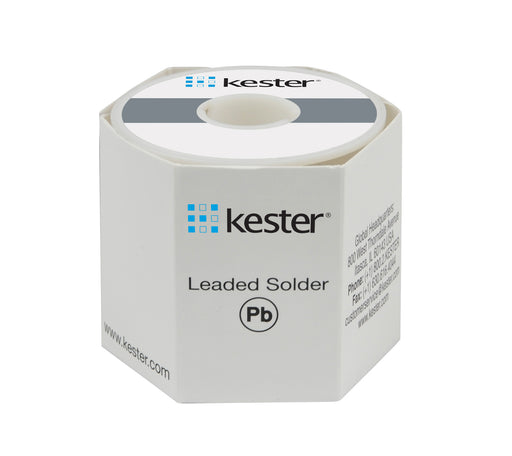 "Kester 24-6337-8800 | Sn63Pb37 Wire Solder, 245 No-Clean, .031"" dia., 50 core, 1lb."