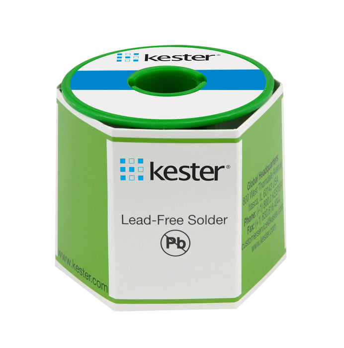 "Kester24-7068-6401 | SAC305 Wire Solder, 331 Water Soluble, Lead Free, .020"" dia., 66 Core, 1 lb. spool"