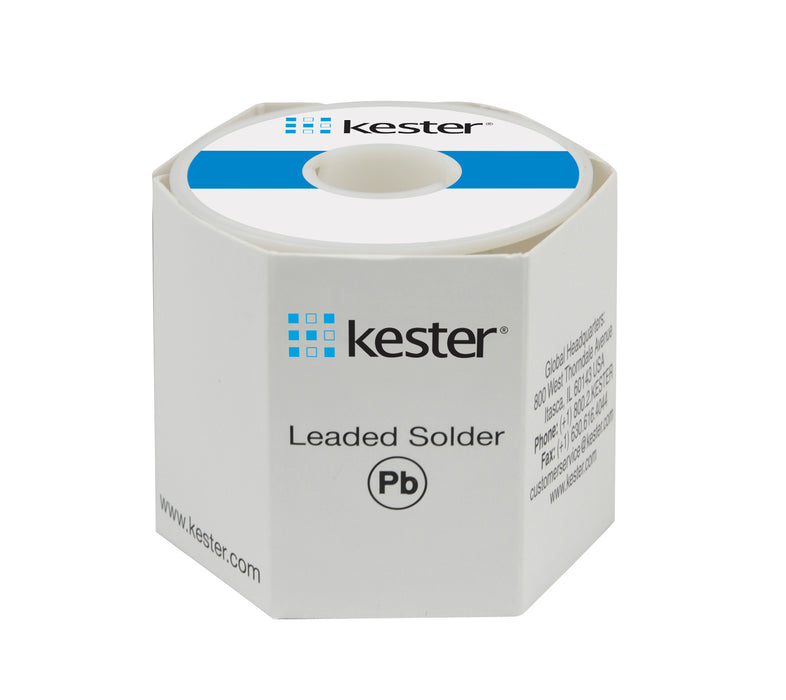 "Kester Sn63/Pb37 Wire Solder, 331 Organic Water Soluble, .015""dia., 66 Core"