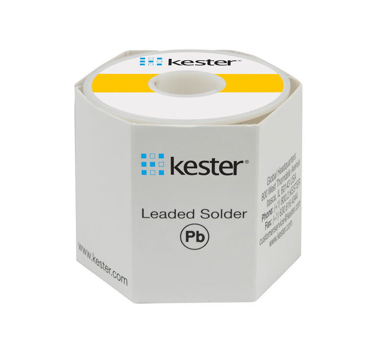 "Kester 24-6337-0007 | Sn63/Pb37 Wire Solder, 44 Activated Rosin, .015""dia., 66 Core, 1 lb. 