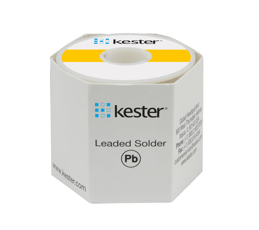 "Kester Sn63/Pb37 Wire Solder, 44 Activated Rosin, .025""dia., 66 Core"