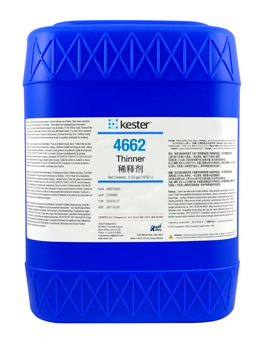 Kester 4662 Flux Thinner, Water Soluble, 5 Gallon