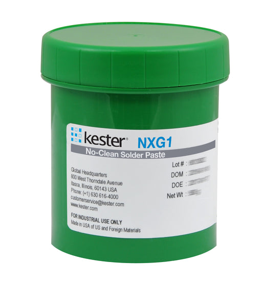 Kester SAC305 Lead Free Solder Paste, NXG1 No Clean, 500gr Jar