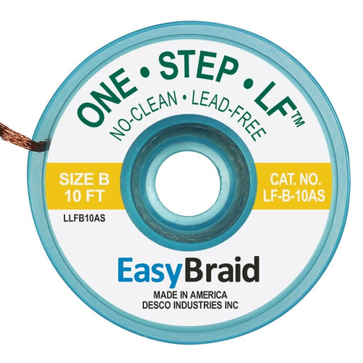 Easy Braid LF-B-10AS One-Step ESD-Safe Lead Free No Clean Gold Desoldering Braid