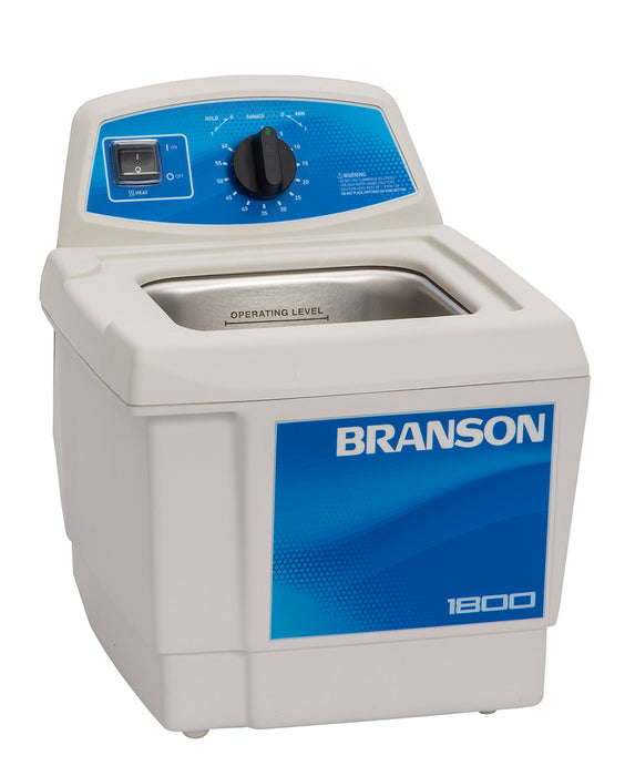Branson M1800H Ultrasonic Cleaner with Mechanical Timer and Heater, 1/2 gallon ( Formerly B1510-MTH )