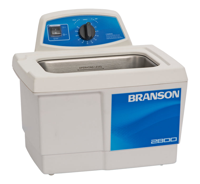 Branson M2800H Ultrasonic Cleaner with Mechanical Timer & Heater, 3/4 gallon