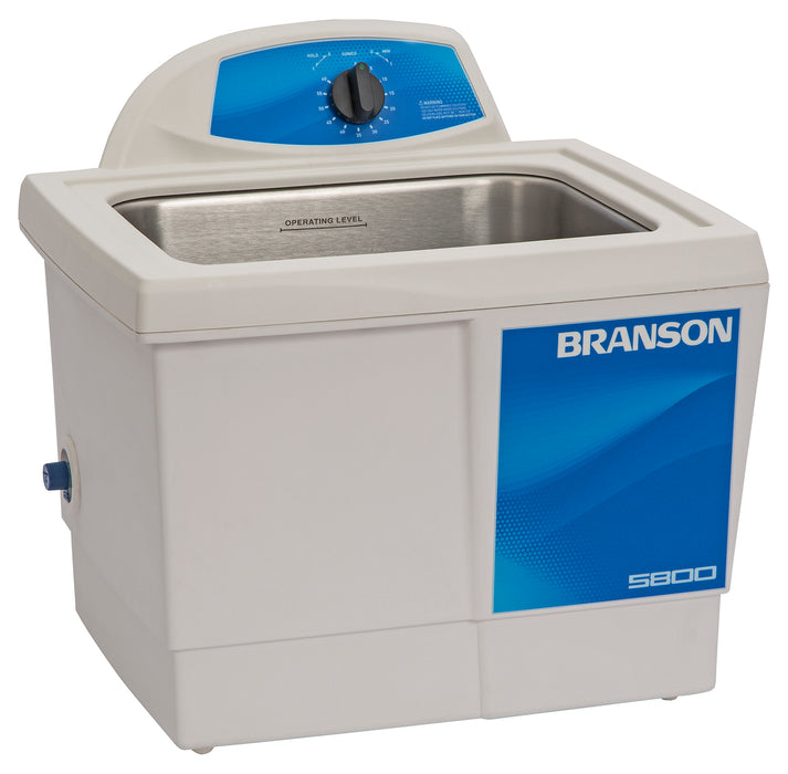Branson M5800 Ultrasonic Cleaner with Mechanical Timer, 2-1/2 gallon (Formerly B5510-MT)