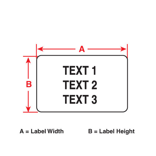 "Brady PTL-37-423 Thermal Transfer Labels for Portable Printers, 3.000"" x 1.900"""