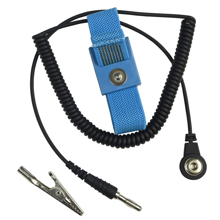 SCS-ECWS61M-1 Adjustable Fabric Wrist Strap w/6' Cord, Blue